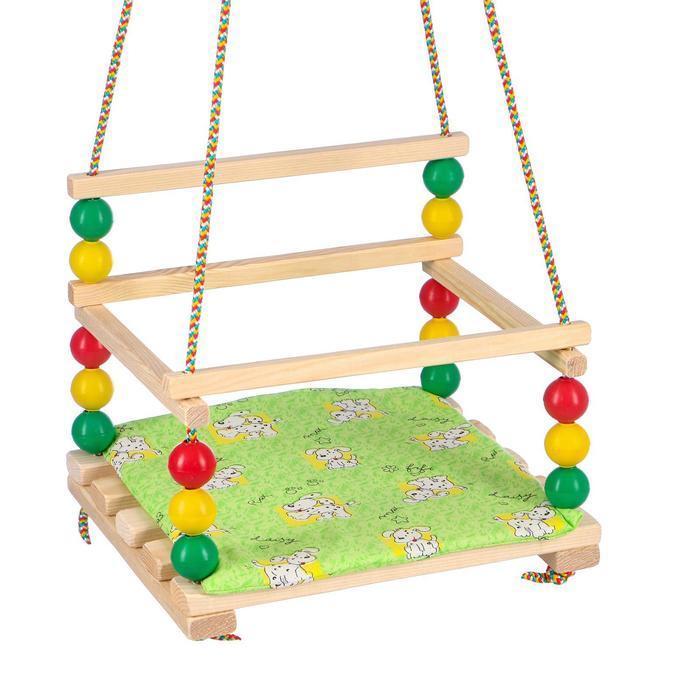 """Подвесное кресло для игровой площадки с мягкой сидушкой, """"Ветерок"""", сиденье 34х28 см"""