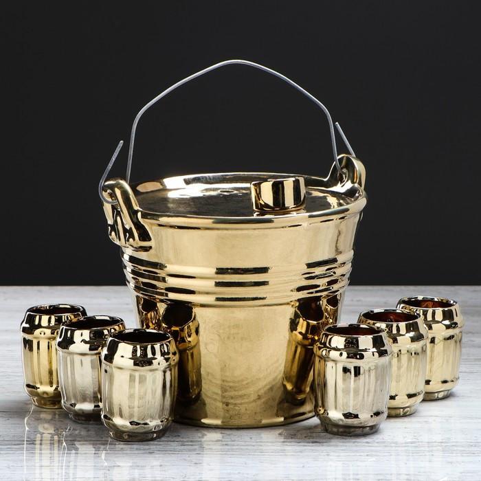 """Набор для вина """"Ведро"""", 7 предметов в наборе, 1,8 л/0,1 мл"""