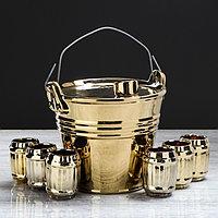 """Набор для вина """"Ведро"""", 7 предметов в наборе, 1,8 л/0,1 мл, фото 1"""