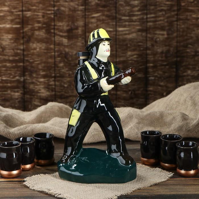 """Набор для коньяка """"Пожарник"""", 7 предметов, 0,5/0.05 л"""