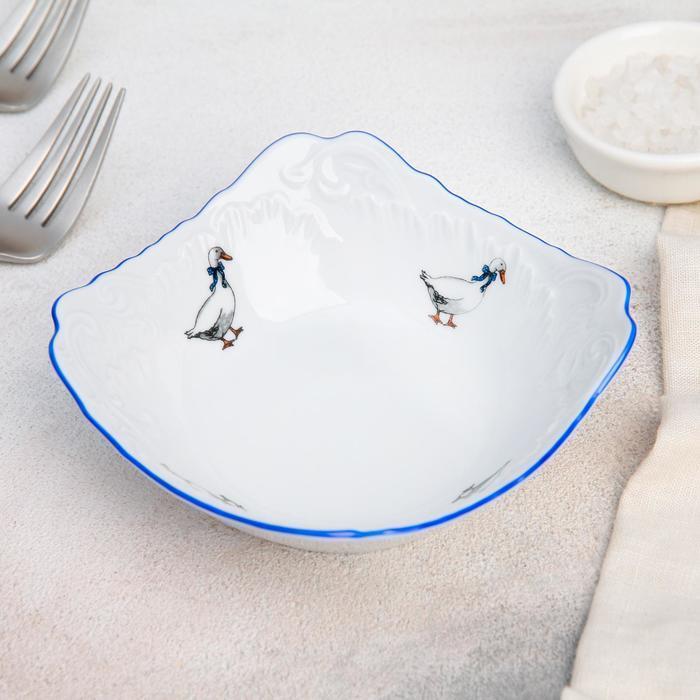 Салатник «Рококо. Гуси», 14×14 см