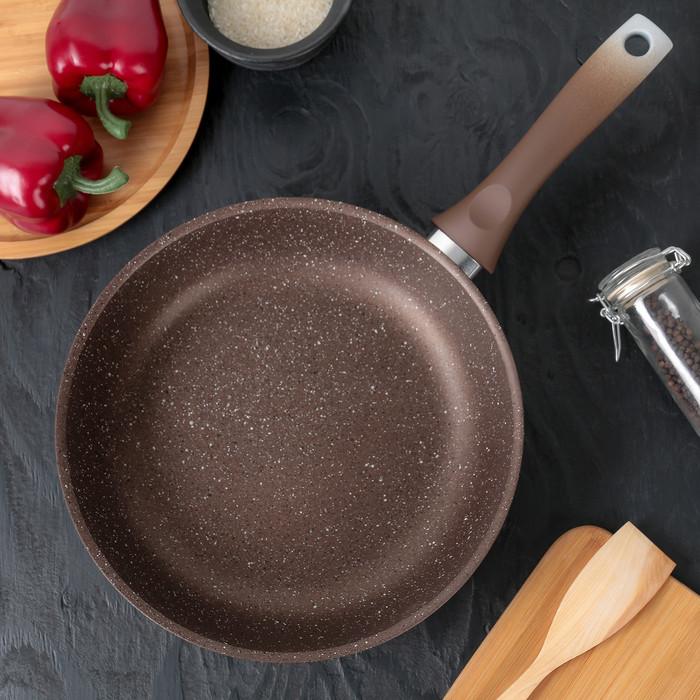Сковорода, 26×6 см, цвет кофейный мрамор