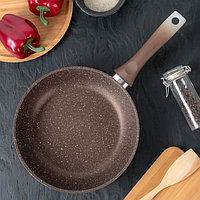 Сковорода, 24×6 см, цвет кофейный мрамор