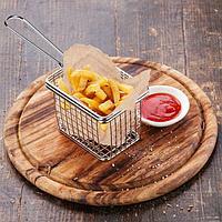 Корзинка для картофеля фри, крупная сетка