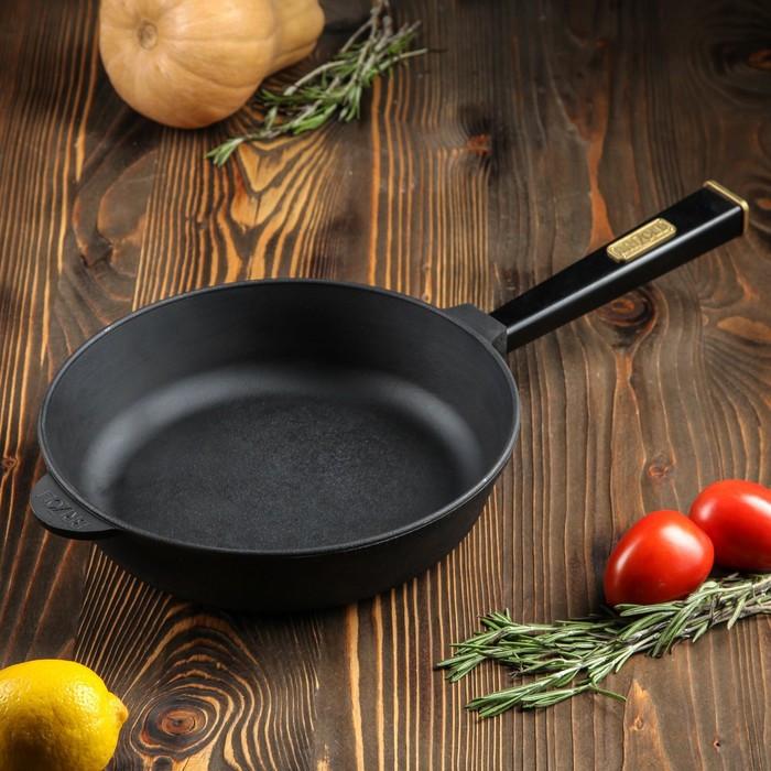 """Сковорода-сотейник чугунная """"ОПТИМА-BLACK"""", 260 х 60 мм, ТМ BRIZOLL"""