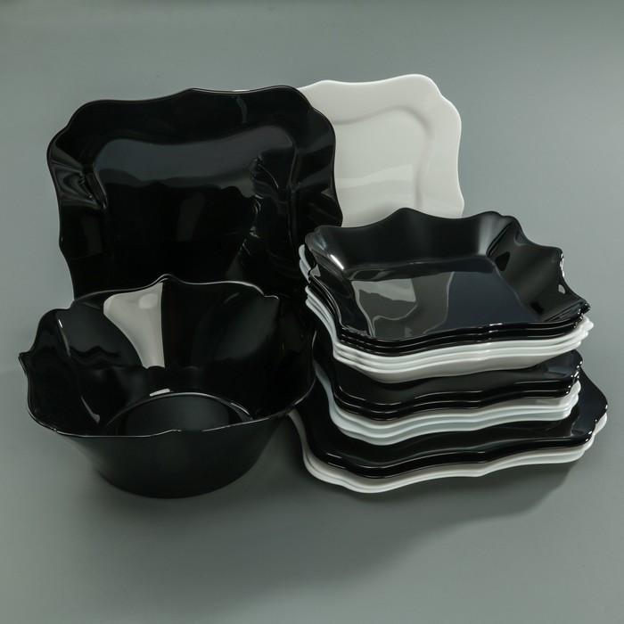 Сервиз столовый Authentic. Black and White, 19 предметов