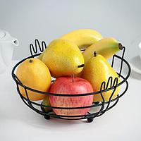 Ваза для фруктов «Приборы», цвет чёрный