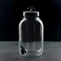 Кувшин с краником «Лимонад», 5 л, цвет черный