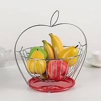 """Ваза для фруктов 29×29×24,5 см """"Яблочко"""", цвет МИКС"""