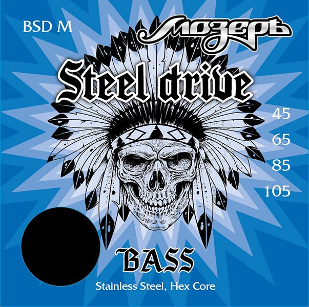 Комплект струн для бас-гитары, сталь, 45-105, Мозеръ BSD-M Steel Drive