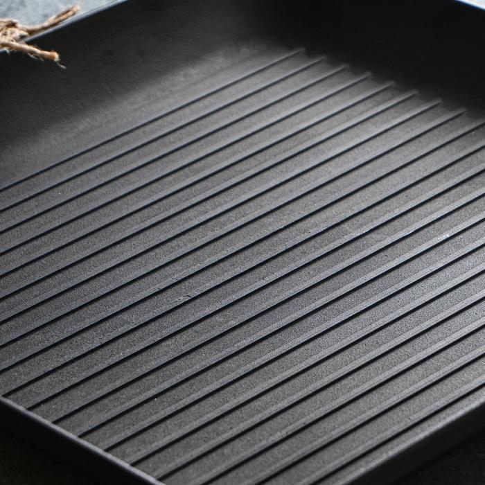 Сковорода чугунная квадрат гриль, 350 х 350 х 40 мм, премиум набор - фото 2