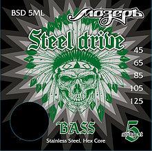 Комплект струн для 5-струнной бас-гитары, сталь, 45-125, Мозеръ BSD-5ML Steel Drive
