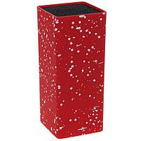 Подставка под ножи с наполнителем «Зефир», квадратная, цвет красный