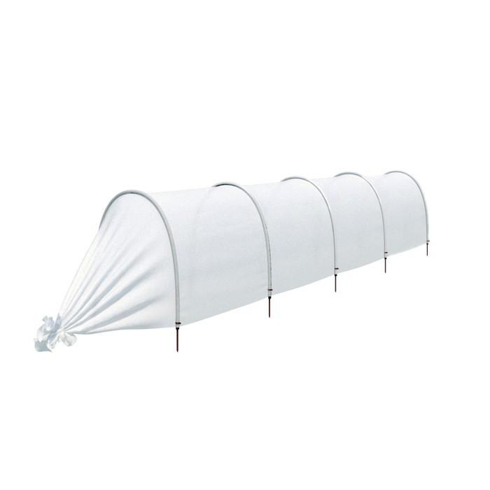 Парник прошитый «Ленивый», длина 4.5 м, 5 дуг из пластика, дуга L = 2 м, d = 20 мм, укрывной материал 35 г/м²
