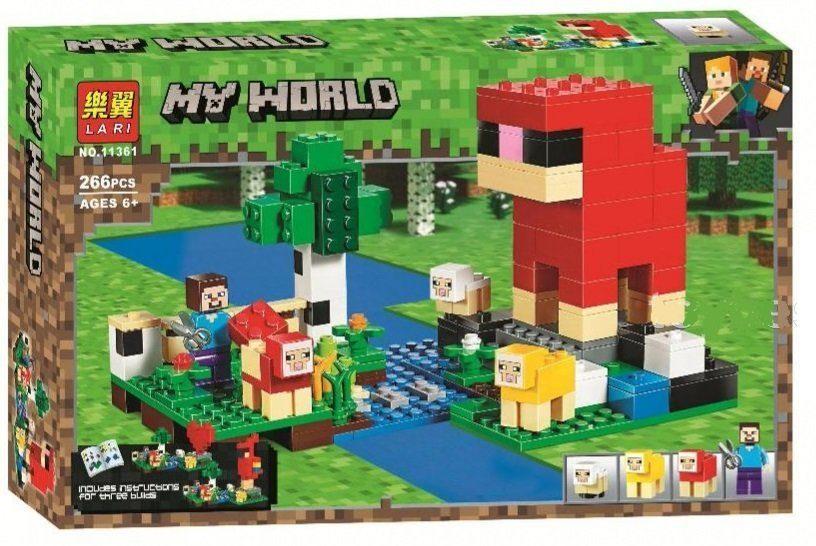 """Bela My World 11361 Конструктор """"Шерстяная ферма"""" Майнкрафт (Аналог LEGO 21153)"""