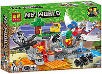 """Bela My World 11267 Конструктор """"Битва драконов"""" Майнкрафт (Аналог LEGO)"""
