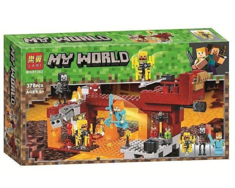"""Bela My World 11362 Конструктор """"Мост Ифрита"""" Майнкрафт (Аналог LEGO 21154)"""