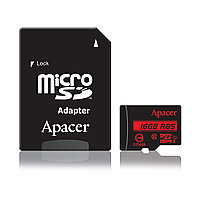 Карта памяти  Apacer  AP16GMCSH10U5-R  MicroSDHC 16GB  с адаптером SD