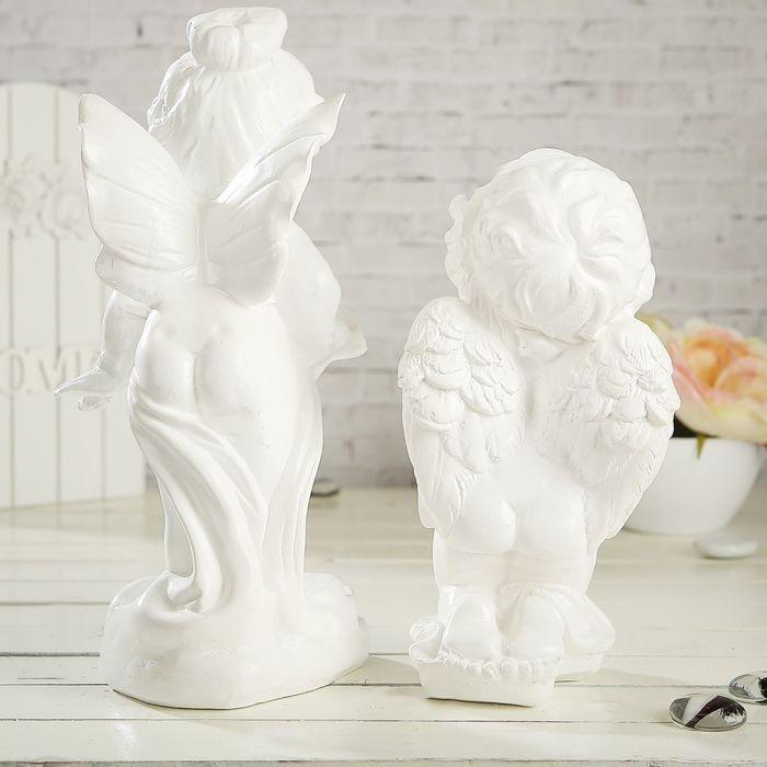 """Статуэтка """"Ангел и мотылёк"""", 2 шт, белая, 29 см - фото 3"""
