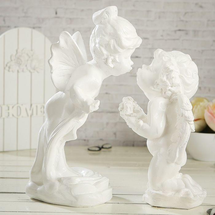 """Статуэтка """"Ангел и мотылёк"""", 2 шт, белая, 29 см - фото 4"""