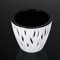 Кашпо со вставкой «Вдохновение», 3 л, цвет бело-чёрный, фото 1