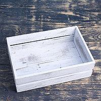 Ящик с реечной крышкой, состаренный, 30х20х10см