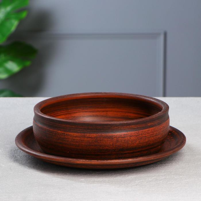 Горшок для кактусов и суккулентов «Бонсайница», Ø 20 см, дымленый