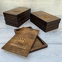 Коробочки для чеков ресторана и кафе. Счетницы брендированные деревянные для расчета с клиентами.Чек буки.