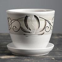 Горшок цветочный Лотос Белый 1 л, фото 1