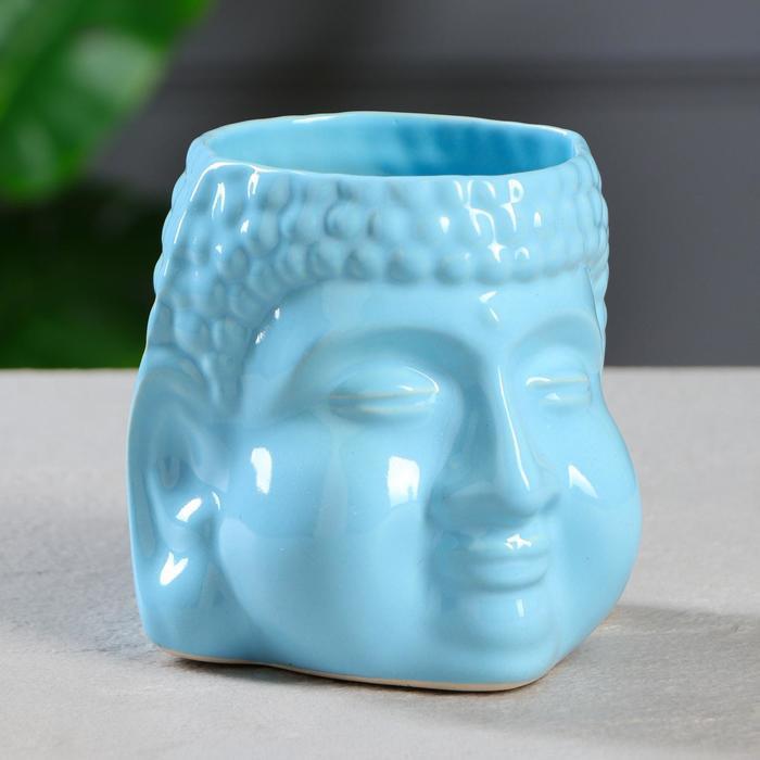 "Кашпо ""Будда"" 1,3 л, цвет голубой"