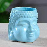 "Кашпо ""Будда"" 1,3 л, цвет голубой, фото 1"