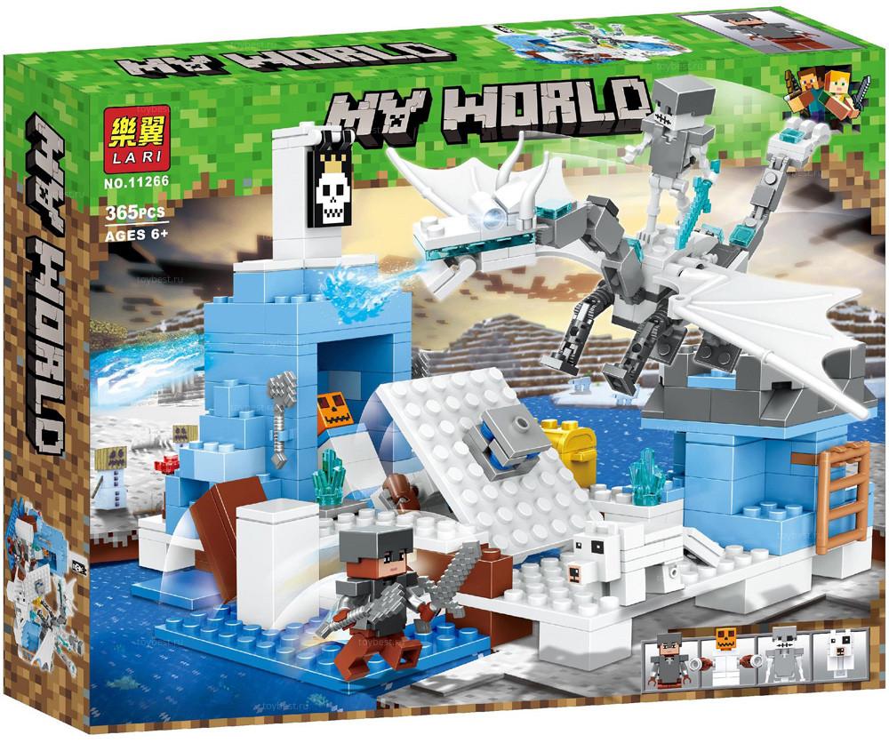 "Bela My World 11266 Конструктор ""Атака Ледяного дракона"" Майнкрафт (Аналог LEGO)"