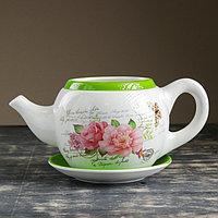 """Горшок цветочный в форме чайника """"Цветы"""" 32*18*15 см, фото 1"""