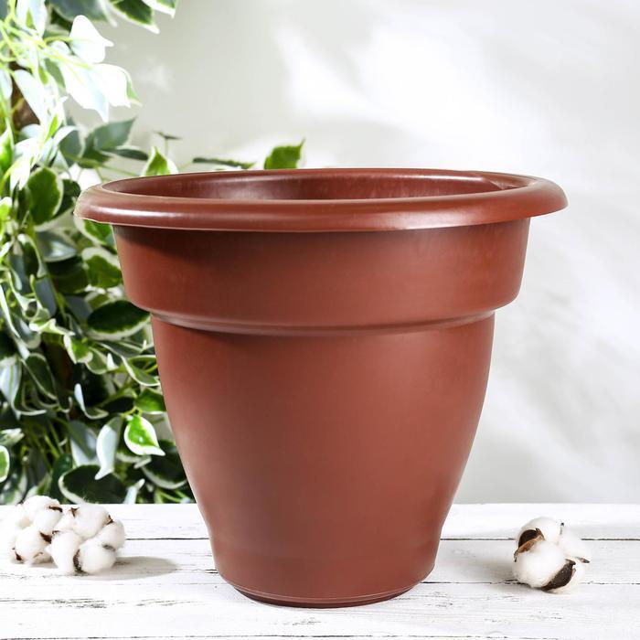 Горшок для цветов 10 л, коричневый