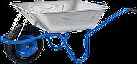 Тачка с широким пневматическим колесом, строительная одноколесная ЗУБР ПТ-250, 250 кг