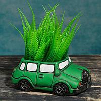 """Кашпо фигурное """"Машинка"""" зеленое, 15*9*6см, фото 1"""