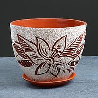 Горшок цветочный лилия  3,5 л, фото 1