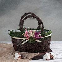 Кашпо плетёное «Лавандовый букет», 27×14×24 см