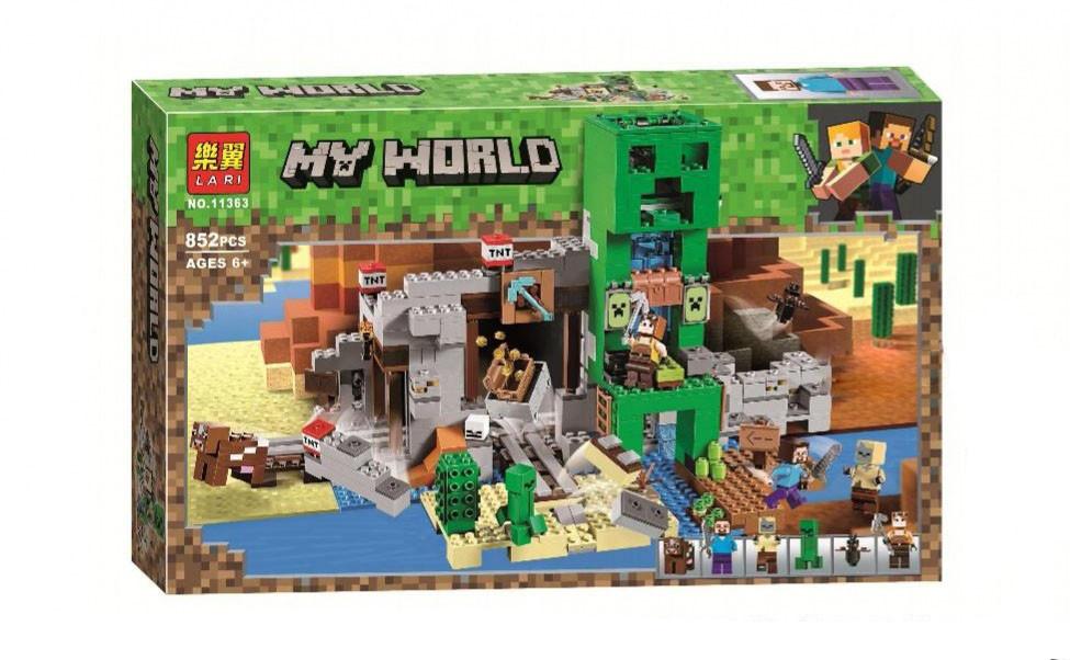 "Bela My World 11363 Конструктор ""Шахта крипера"" Майнкрафт (Аналог LEGO 21155)"