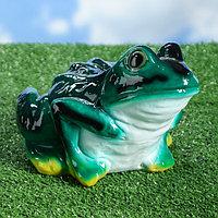 """Садовая фигура """"Жаба"""", зелёный цвет, 18 см"""