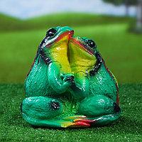 """Садовая фигура """"Лягушка Пара"""", зелёный цвет, 20 см, фото 1"""