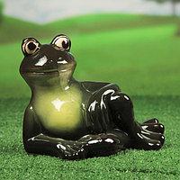 """Садовая фигура """"Лягушка Квака"""", зелёный цвет, 21 см, фото 1"""