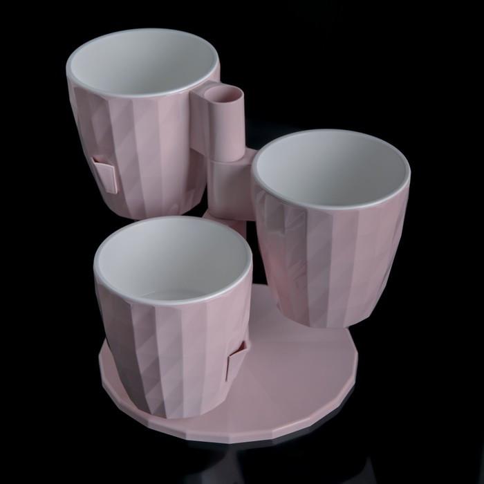 Кашпо Ruby «Каскад», 1 л, цвет розовый