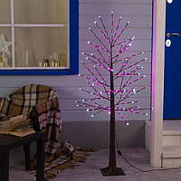Дерево светодиодное 1.5 м, 224 LED, 220 В, эффект мерцания, РОЗОВЫЙ