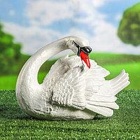 """Садовая фигура """"Лебедь"""", белый цвет, 21 см, фото 1"""