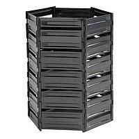 Компостер пластиковый, 1200 л, 125 × 105 × 140 см, чёрный