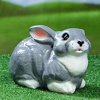 """Садовая фигура """"Заяц"""" глянец, серый цвет, 17 см, микс"""