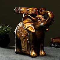 """Фигура - подставка """"Слон стоя"""" золото, 35х23х40см"""