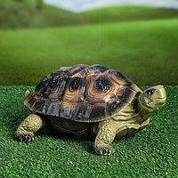 """Садовая фигура """"Черепаха Эмбер"""", зелёный цвет, 14 см, фото 1"""