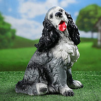 """Садовая фигура """"Спаниель"""", серый цвет, 34 см, фото 1"""